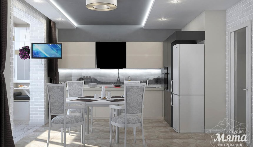 Дизайн интерьера трехкомнатной квартиры по ул. 8 Марта 194 9