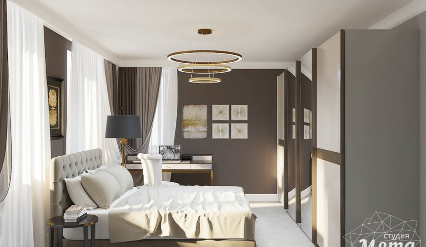 Дизайн интерьера спальни в ЖК Малевич 4