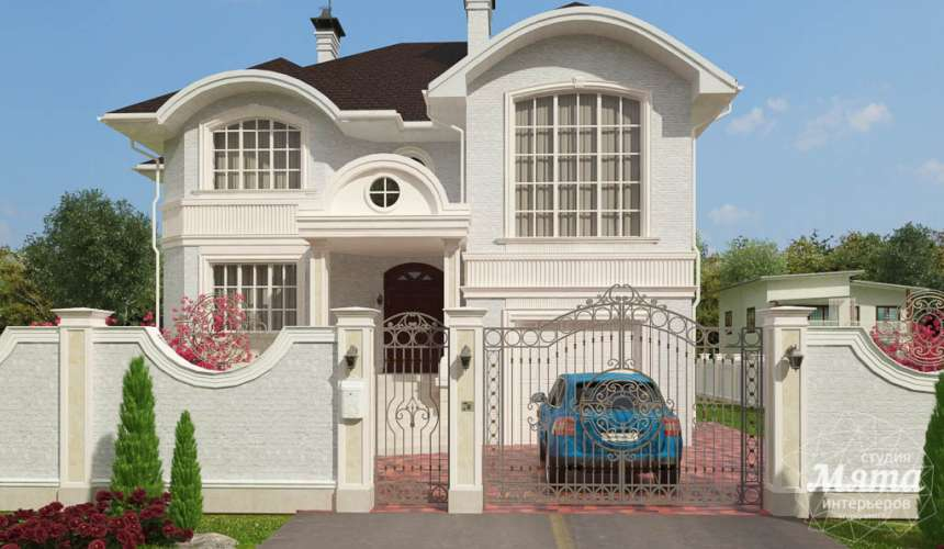 Дизайн фасада коттеджа в Тюмени  3