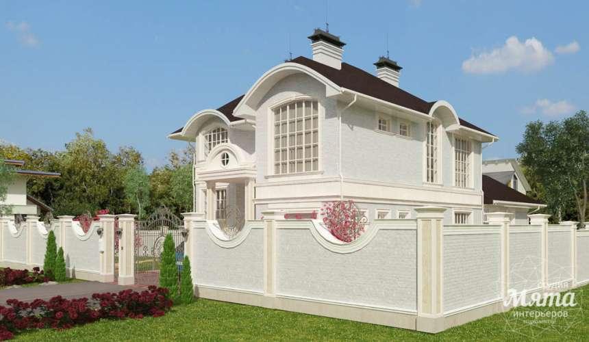 Дизайн фасада коттеджа в Тюмени  5