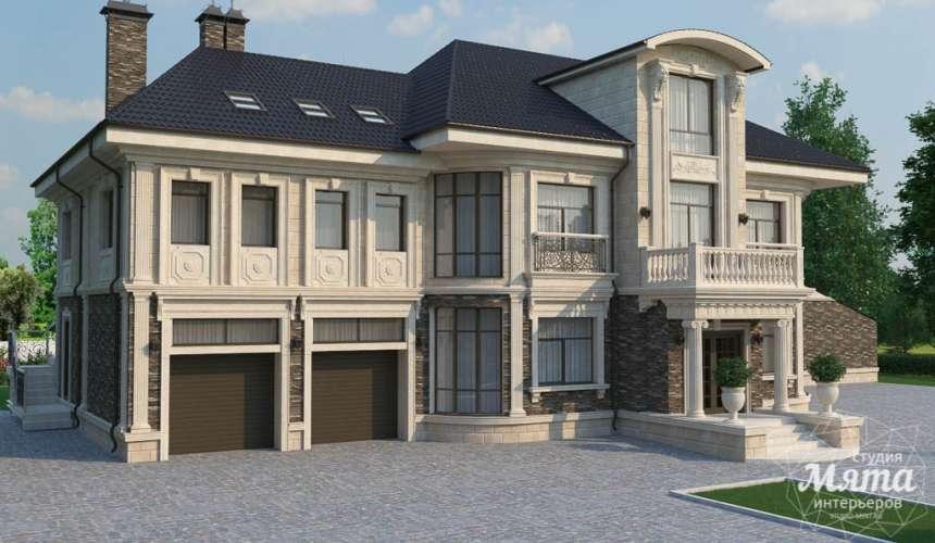 Дизайн фасада коттеджа в п. Николин Ключ 7
