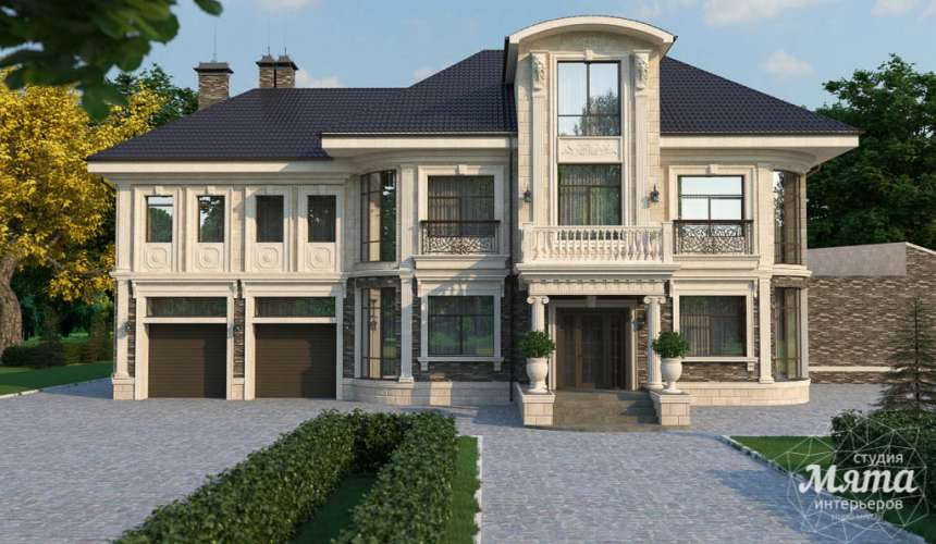 Дизайн фасада коттеджа в п. Николин Ключ 3