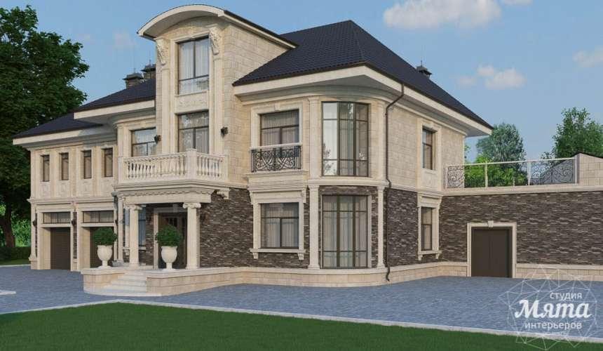 Дизайн фасада коттеджа в п. Николин Ключ 4