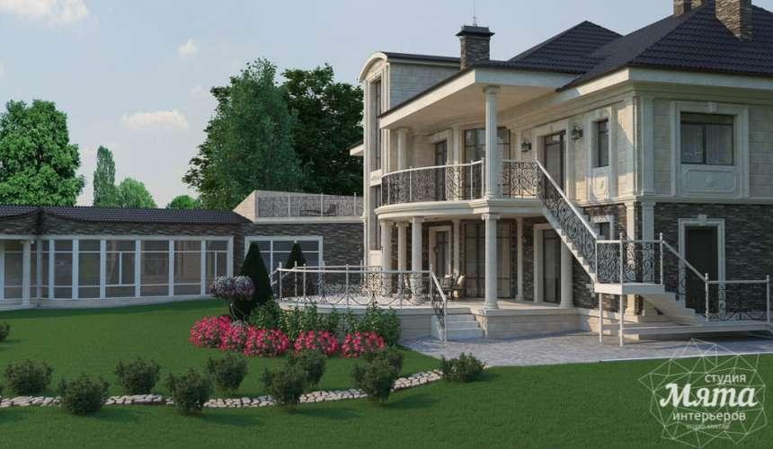 Дизайн фасада коттеджа в п. Николин Ключ 5