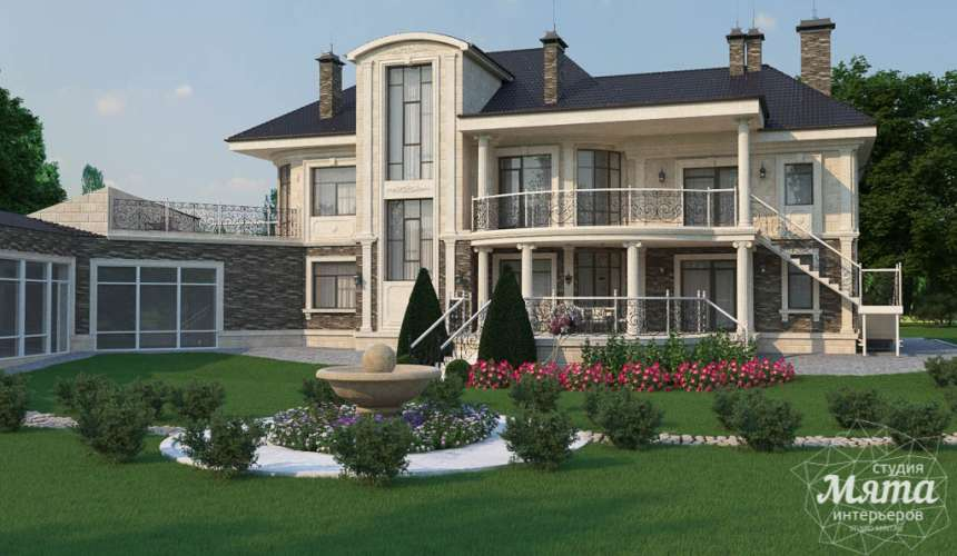 Дизайн фасада коттеджа в п. Николин Ключ 6