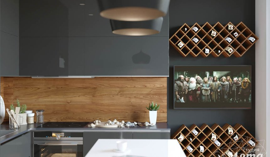 Дизайн интерьера однокомнатной квартиры в ЖК Чемпион Парк 2