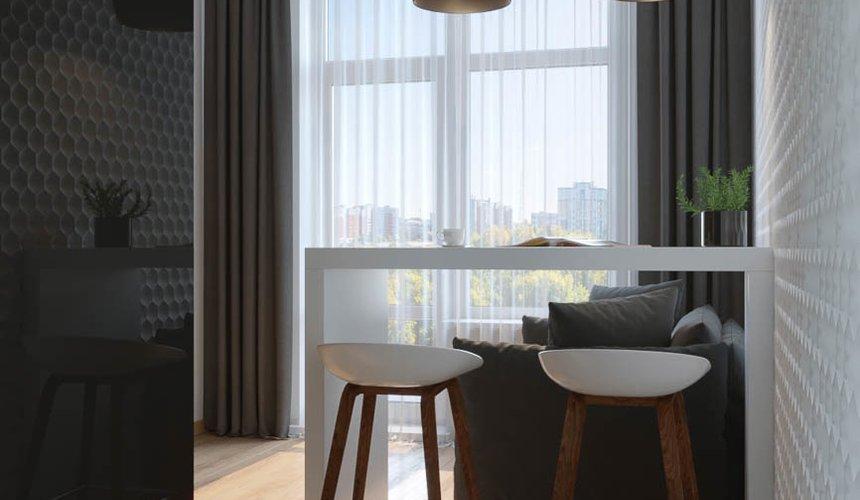 Дизайн интерьера однокомнатной квартиры в ЖК Чемпион Парк 3