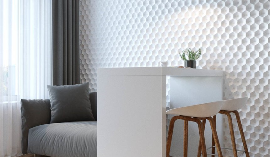 Дизайн интерьера однокомнатной квартиры в ЖК Чемпион Парк 6