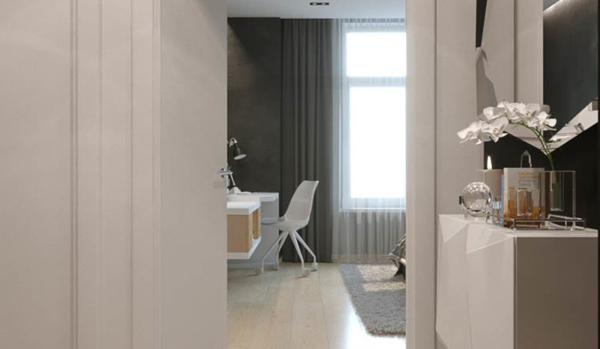 Дизайн интерьера однокомнатной квартиры в ЖК Чемпион Парк 18