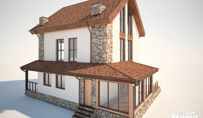 Дизайн фасада коттеджа в Хрустальном 5