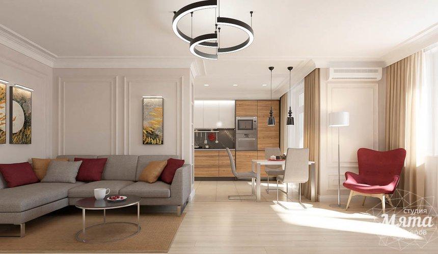 Дизайн интерьера трехкомнатной квартиры в ЖК Малевич 2