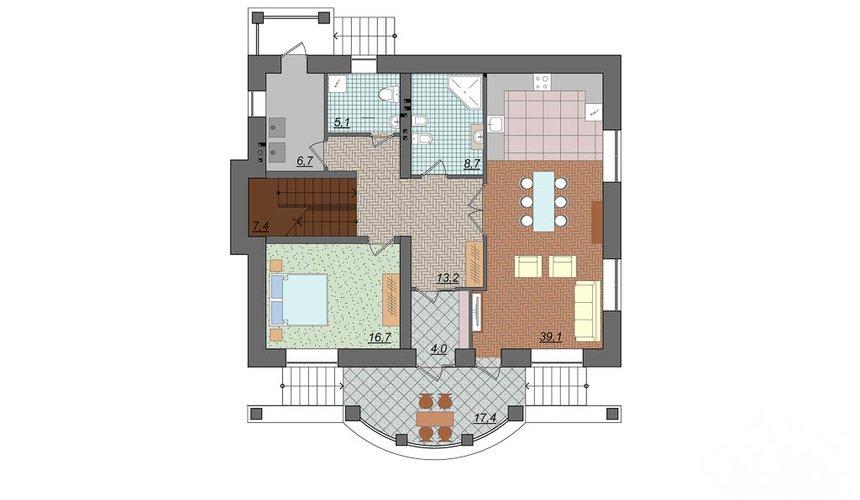 Дизайн фасада коттеджа 314м2 в Сысерти 6