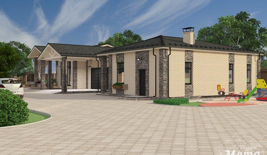 Дизайн фасада коттеджа 200 м2 в КП Галактика 2