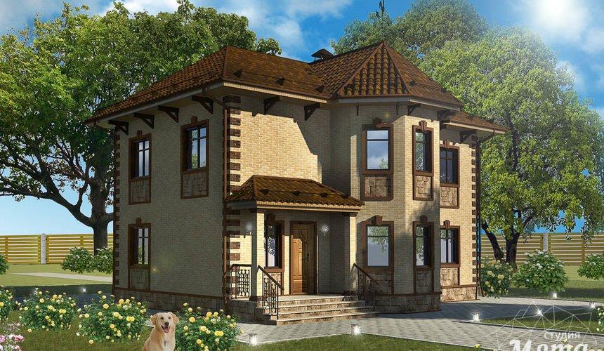 Дизайн фасада дома 160м2 в КП Александрия 1