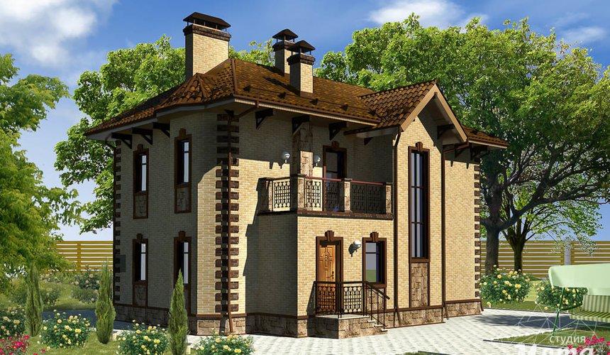 Дизайн фасада дома 160м2 в КП Александрия 2