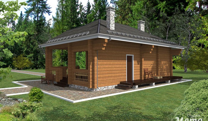Дизайн фасада дома 65 м2 в КП Дубрава 3