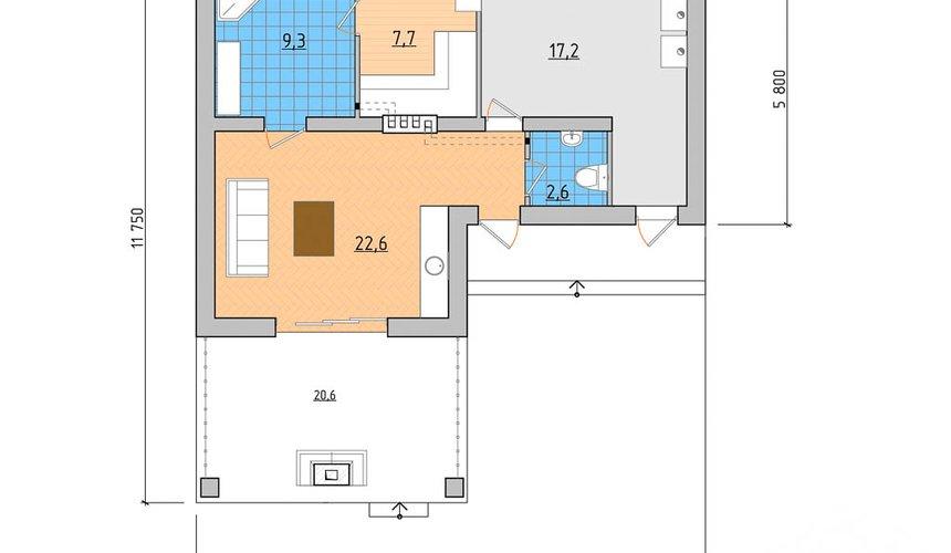Дизайн фасада дома 80 м2 в Краснодаре 3