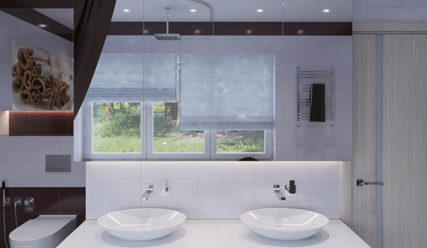 Дизайн интерьера ванных комнат для коттеджа в г. Салехард 5