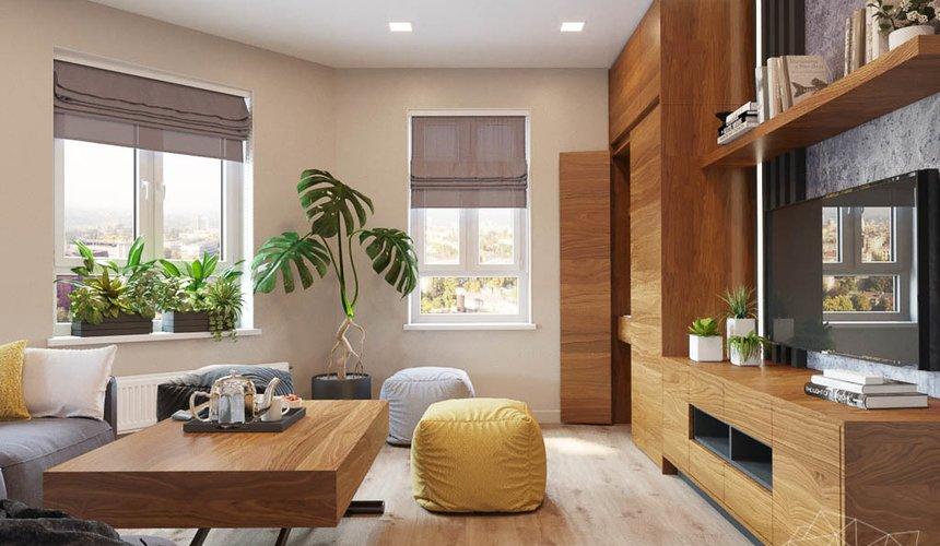 Дизайн интерьера двухкомнатной квартиры в ЖК Расточная 17