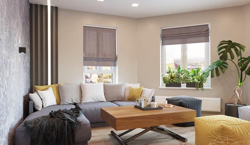 Дизайн интерьера двухкомнатной квартиры в ЖК Расточная 18