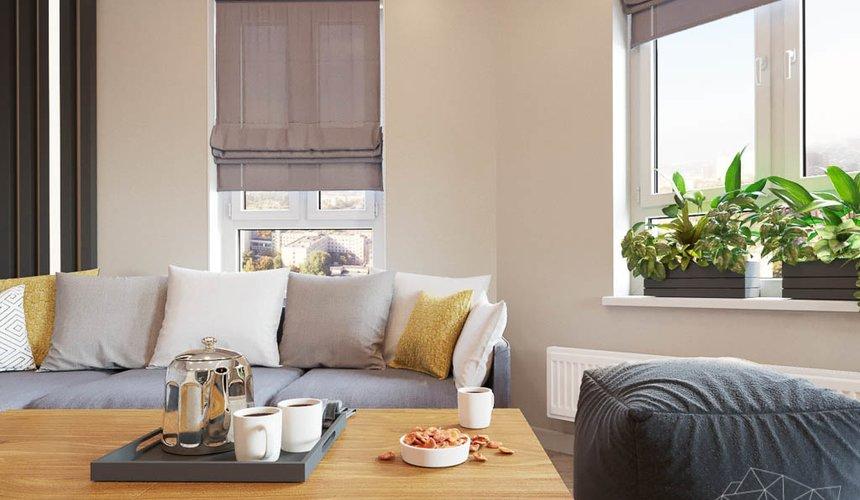 Дизайн интерьера двухкомнатной квартиры в ЖК Расточная 19