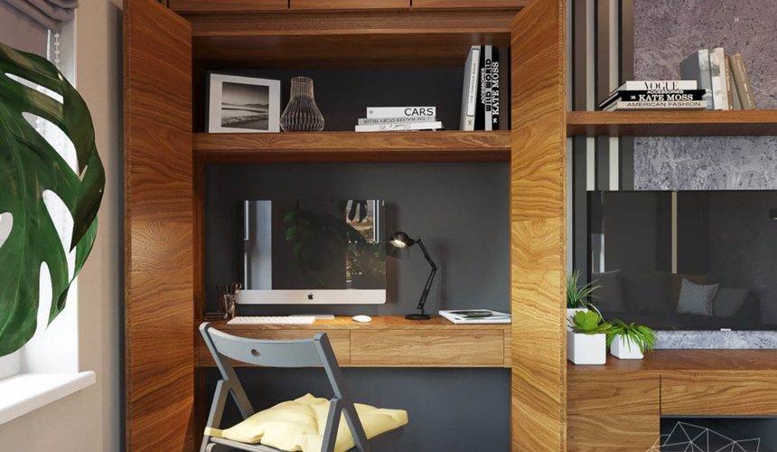 Дизайн интерьера двухкомнатной квартиры в ЖК Расточная 20