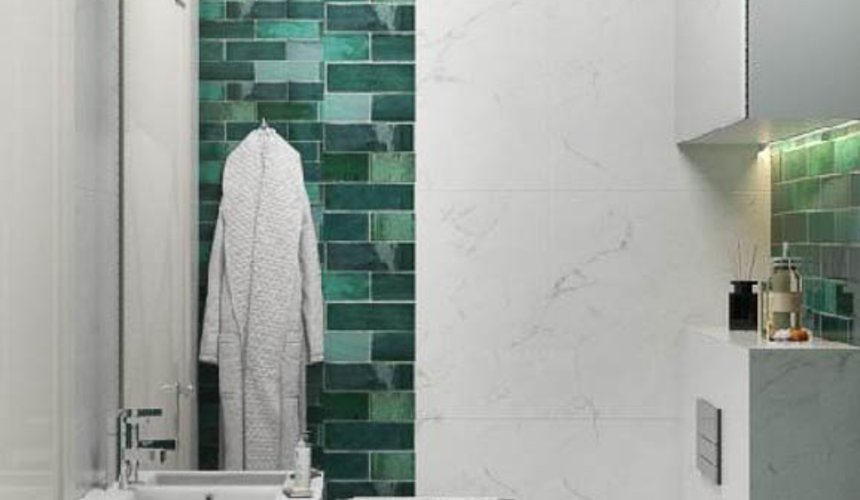 Дизайн интерьера гостиной и санузлов четырехкомнатной квартиры в ЖК Флагман 13