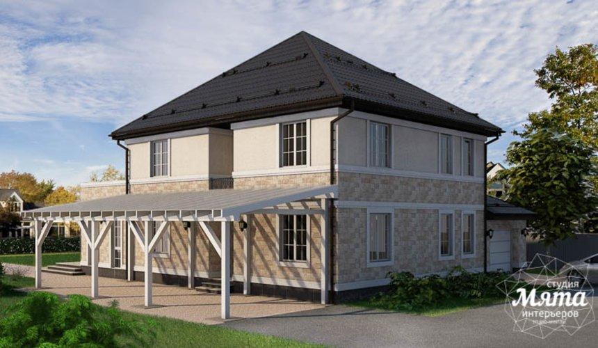 Дизайн фасада коттеджа 200 м2 в г. Тюмень 8