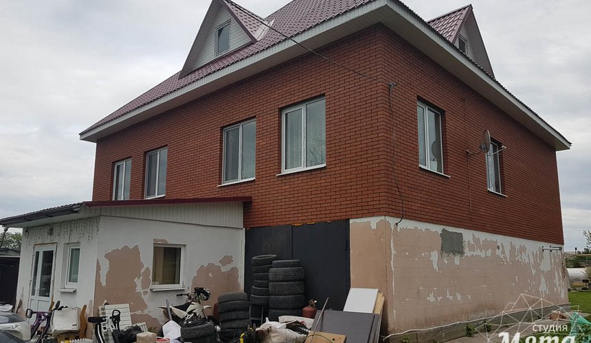 Дизайн фасада дома 532 м2 и бани 152 м2 г. Арамиль 7