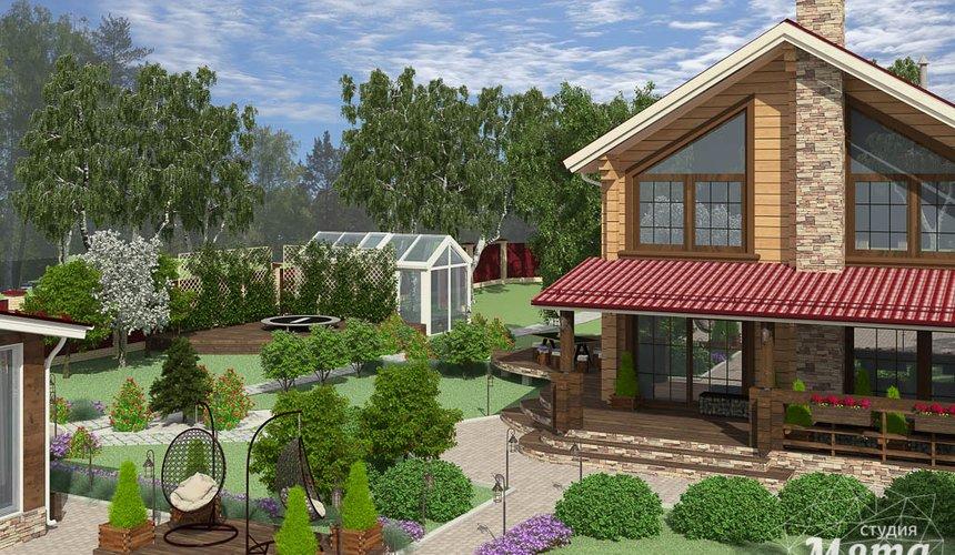 Дизайн фасада дома 532 м2 и бани 152 м2 г. Арамиль 14