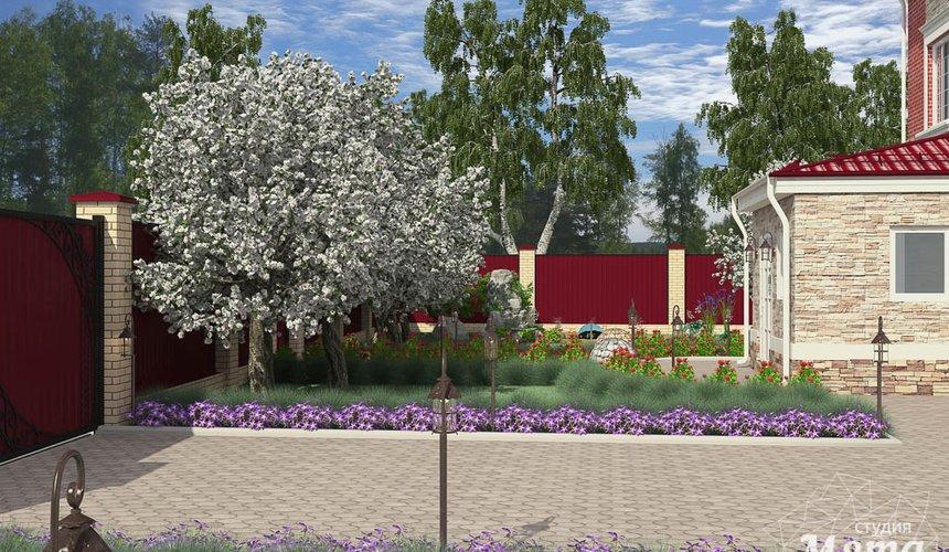 Дизайн фасада дома 532 м2 и бани 152 м2 г. Арамиль 15