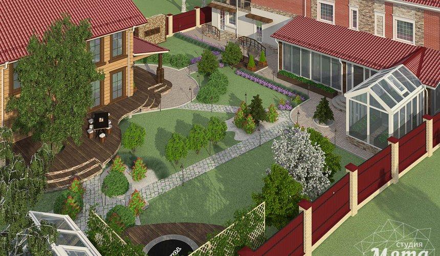 Дизайн фасада дома 532 м2 и бани 152 м2 г. Арамиль 18