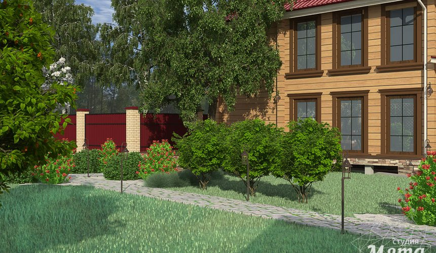 Дизайн фасада дома 532 м2 и бани 152 м2 г. Арамиль 19