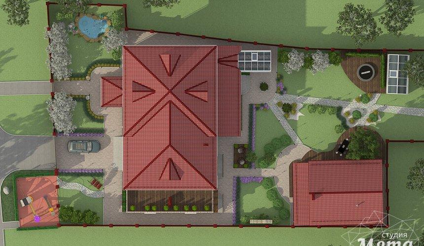 Дизайн фасада дома 532 м2 и бани 152 м2 г. Арамиль 24