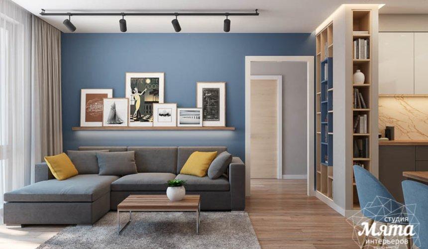 Дизайн интерьера двухкомнатной квартиры в ЖК Солнечный 5