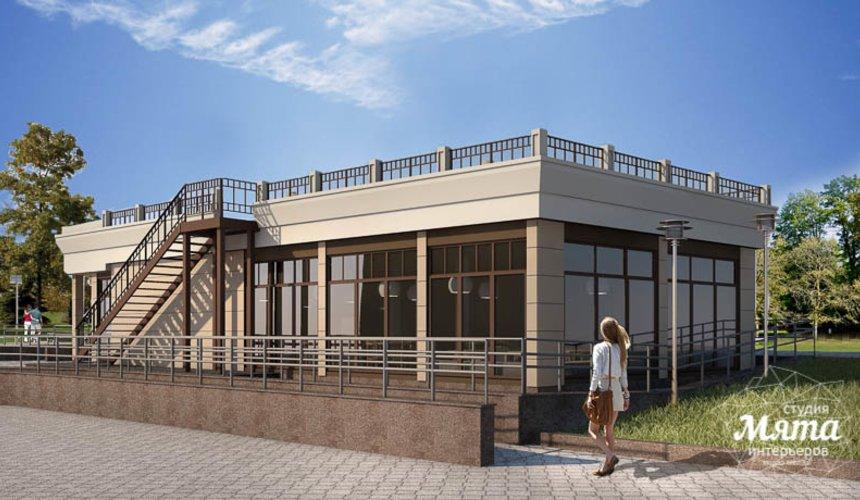 Дизайн фасада кафе 180 м2 на набережной г. Краснотурьинск 3