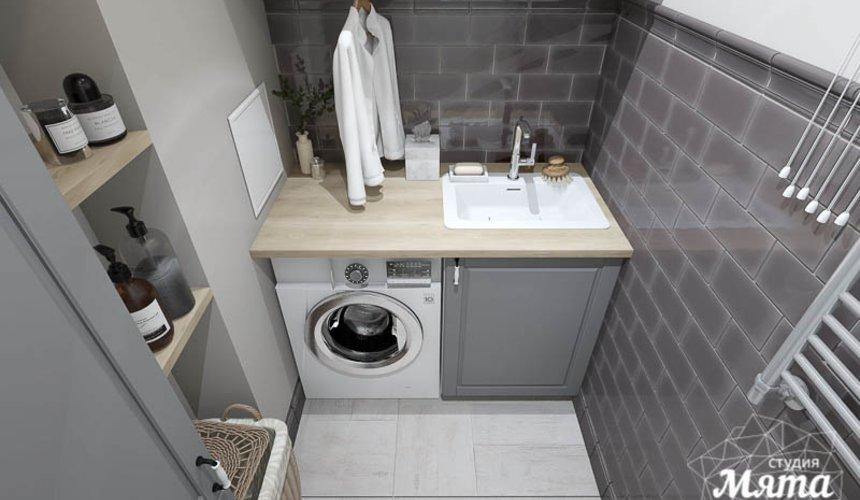 Дизайн интерьера прачечной комнаты квартиры в ЖК Менделеев 3