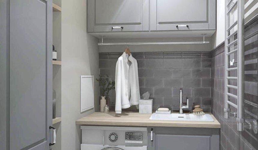 Дизайн интерьера прачечной комнаты квартиры в ЖК Менделеев 2