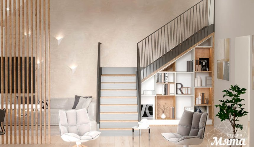 Дизайн интерьера гостиной в коттедже в г. Алапаевск 2