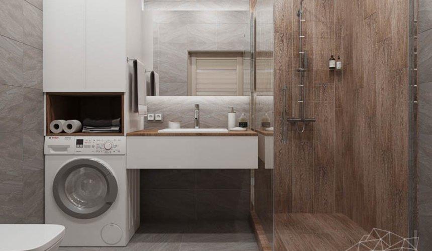 Дизайн интерьера ванных комнат двухуровневой квартиры в ЖК Современник 3