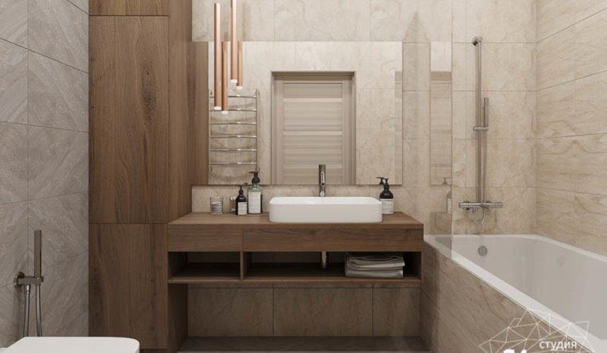 Дизайн интерьера ванных комнат двухуровневой квартиры в ЖК Современник 4