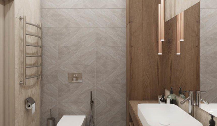 Дизайн интерьера ванных комнат двухуровневой квартиры в ЖК Современник 6