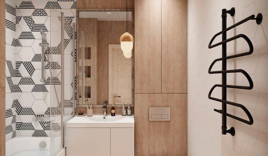 Дизайн интерьера двухкомнатной квартиры в ЖК Лига чемпионов 12