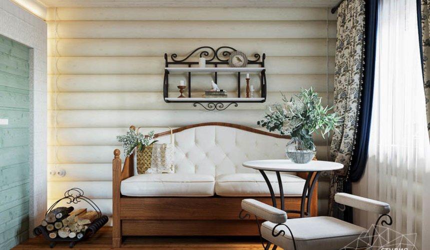 Дизайн интерьера комнаты отдыха в бане с. Косулино 5