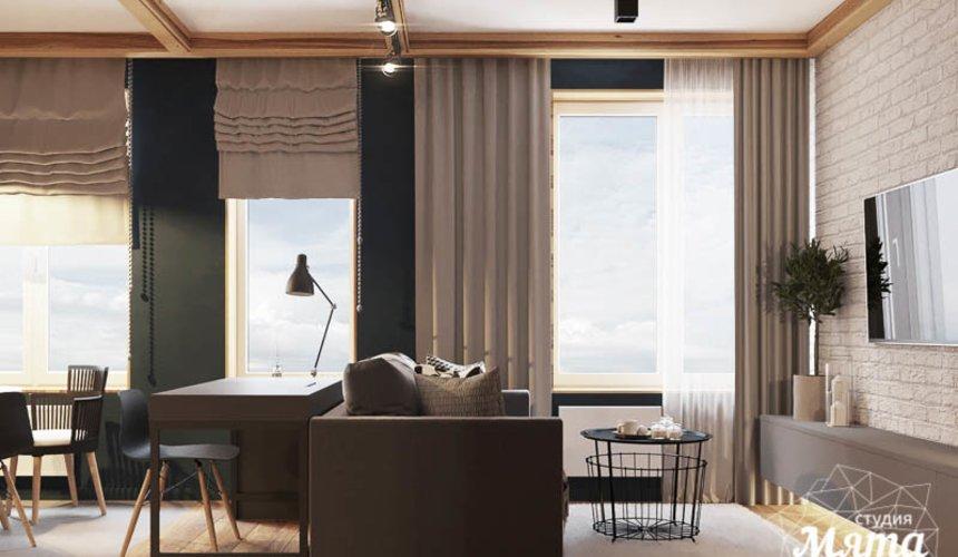 Дизайн интерьера квартиры - студии в ЖК Солнечный 3