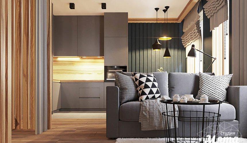 Дизайн интерьера квартиры - студии в ЖК Солнечный 5