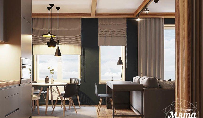 Дизайн интерьера квартиры - студии в ЖК Солнечный 6