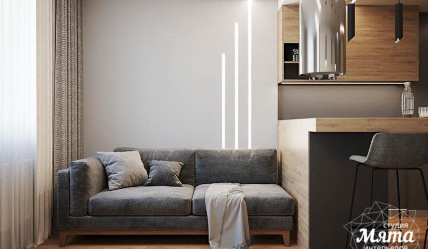 Дизайн интерьера однокомнатной квартиры в ЖК Оазис 2