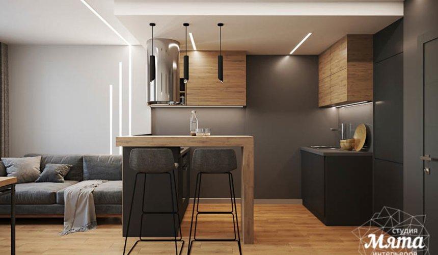 Дизайн интерьера однокомнатной квартиры в ЖК Оазис 4