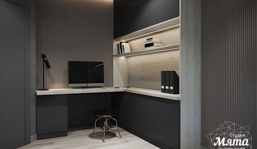 Дизайн интерьера однокомнатной квартиры в ЖК Оазис 22